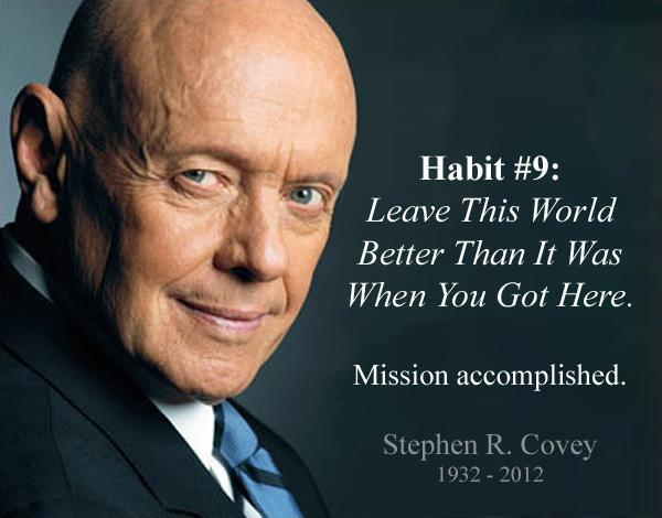 Stephen Covey image via Happiness Virus