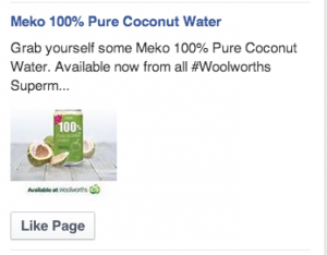meko facebook ad